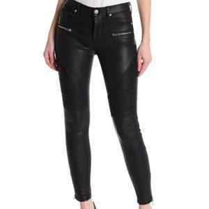 Blank NYC Black Vegan Moto Jeans Sz 26